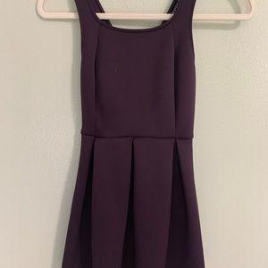 Express scuba style purple / plum dress